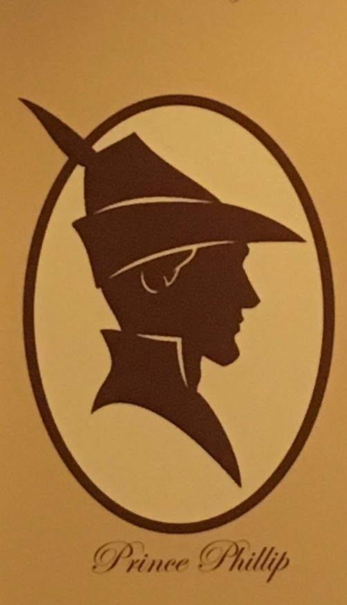 Silhouette of Prince Philip from the Royal Room at Port Orleans Riverside