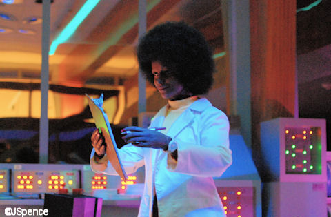 An animatronic from the Spaceship Earth attraction at Epcot in the form of a Black woman,