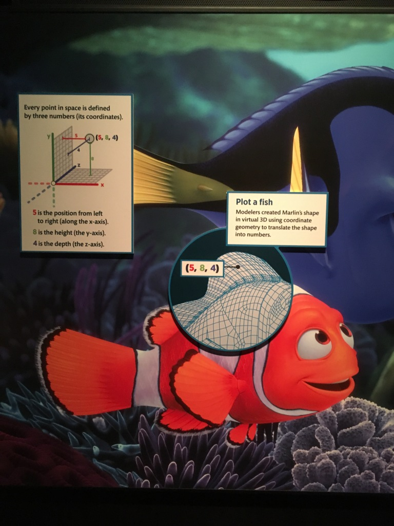 Finding Nemo Coordinates from Science Behind Pixar