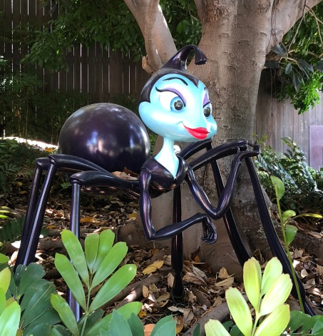 Rosie (black widow spider) statue in Disney's California Adventure